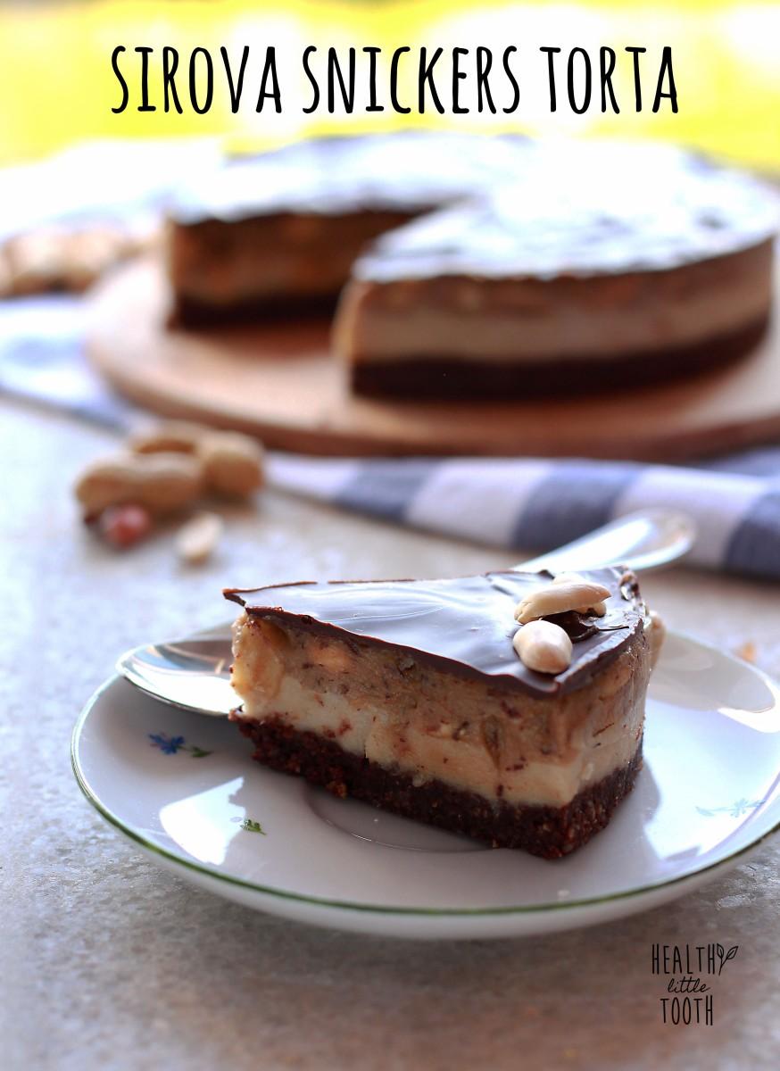 Sirova snickers torta